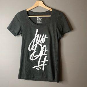 Nike just do it tee shirt gray small